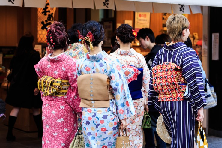 鎌倉で夏着物を着る