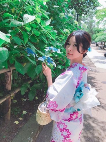 鎌倉 紫陽花 浴衣