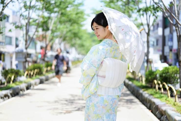 鎌倉花のん 夏着物 レース着物