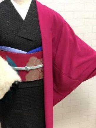 山茶花きものコーデ 秋着物スタイル 都会的パーソナルキモノスタイリング