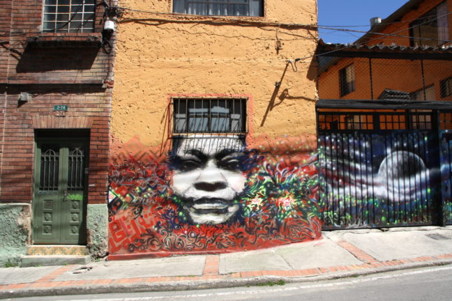 Graffiti tour in Bogota, La Candelaria