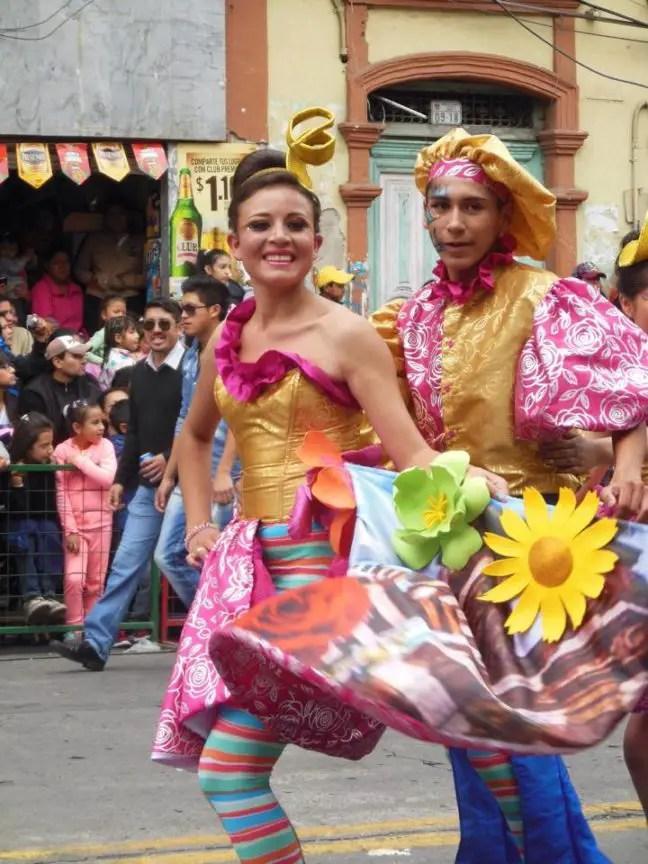 Carnaval vieren in Ambato, Ecuador (2015)