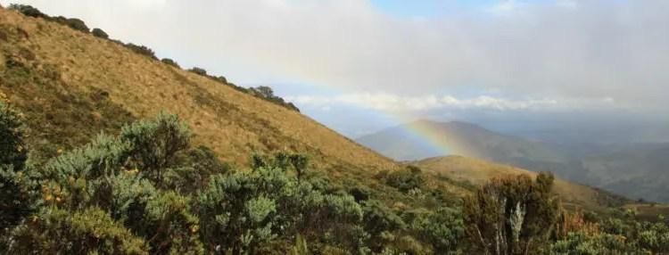 Vulkaan Puracé inclusief regenboog