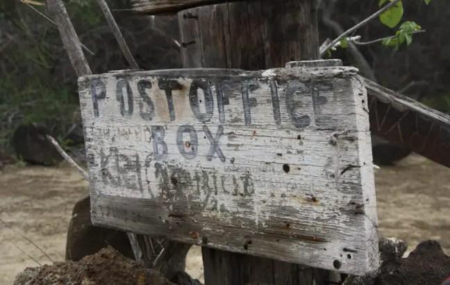 Welkom op Post Office Bay, Galapagos eilanden