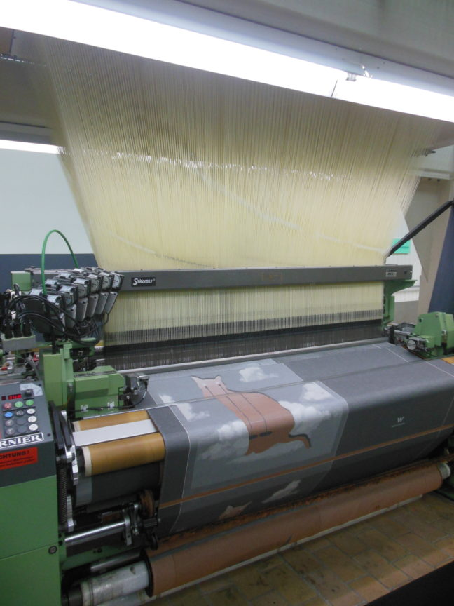 Machinaal kleden weven in het TextielMuseum Tilburg kleed weven