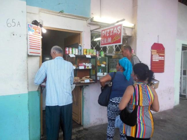 pizzaspot in Havana Cuba