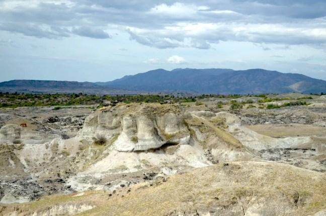 Desierto de la Tatacoa Colombia grijs