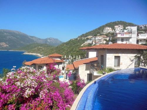 uitzicht hotelkamer Barabossa Kas