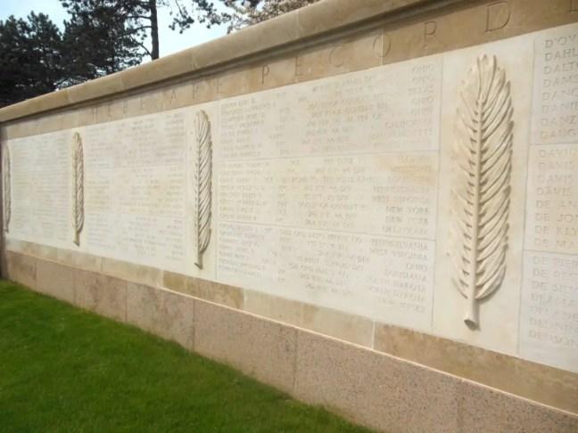namen amerikaanse begraafplaats normandie