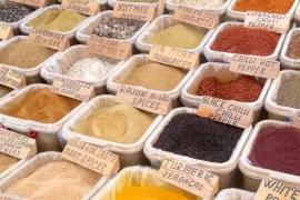 Markt in Kas Turkije kruiden