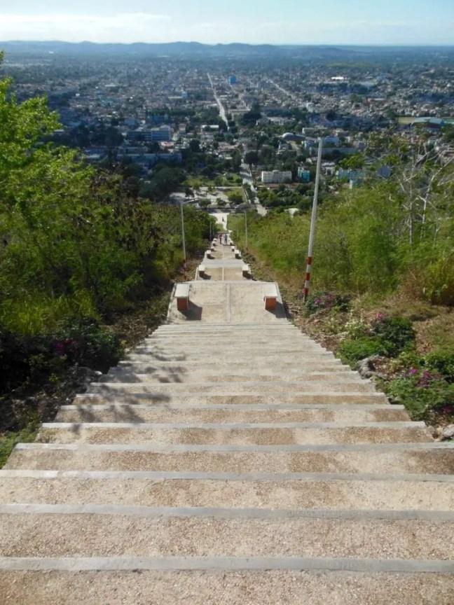 Trap naar beneden vanaf La Loma de la Cruz