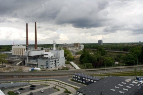 Uitzicht over Eindhoven vanaf het dakterras
