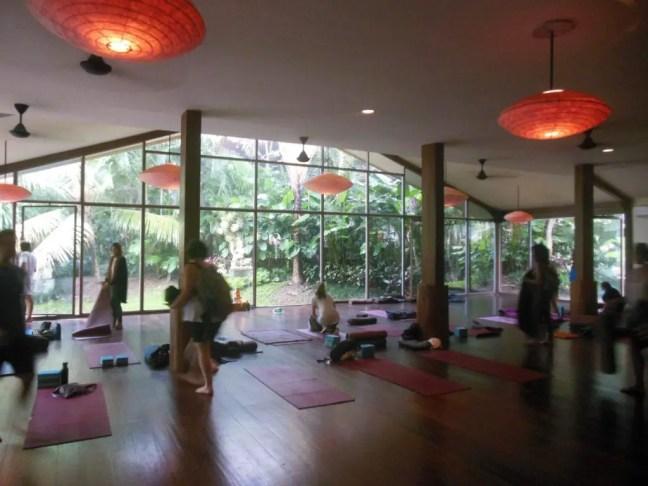 De lesruimte van YogaBarn
