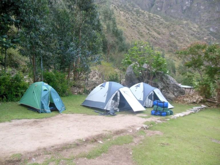 Je slaapt middenin de natuur in tenten op de Inca Trail
