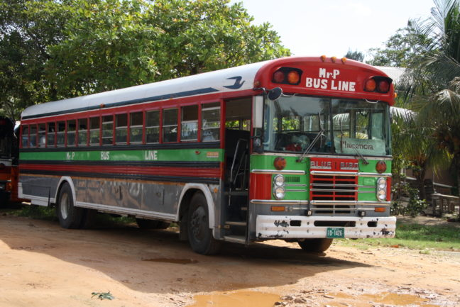 Bus in Belize