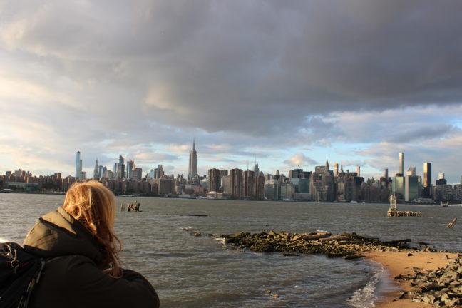 Uitzicht over Manhattan vanaf East River State Park