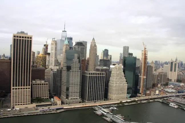 Uitzicht op New York, Manhattan.