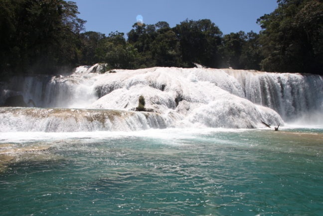 De watervallen van Agua Azul