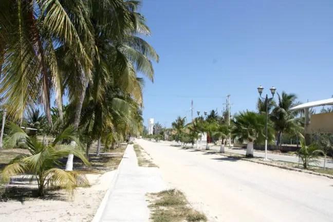 Lege straten bij Las Coloradas