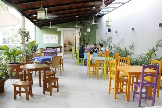 Het restaurantgedeelte van Yerbabuena.