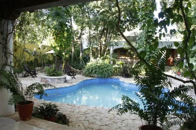 Het zwembad van Casa Quetzal