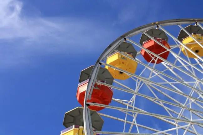 Draaimolen op de Santa Monica pier