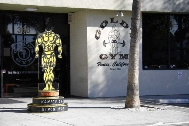 Gold's Gym in Venice, Los Angeles.