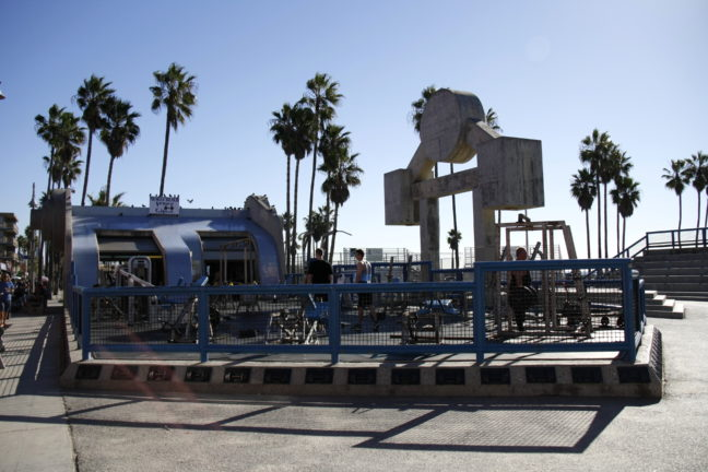 Muscle Beach in Venice.
