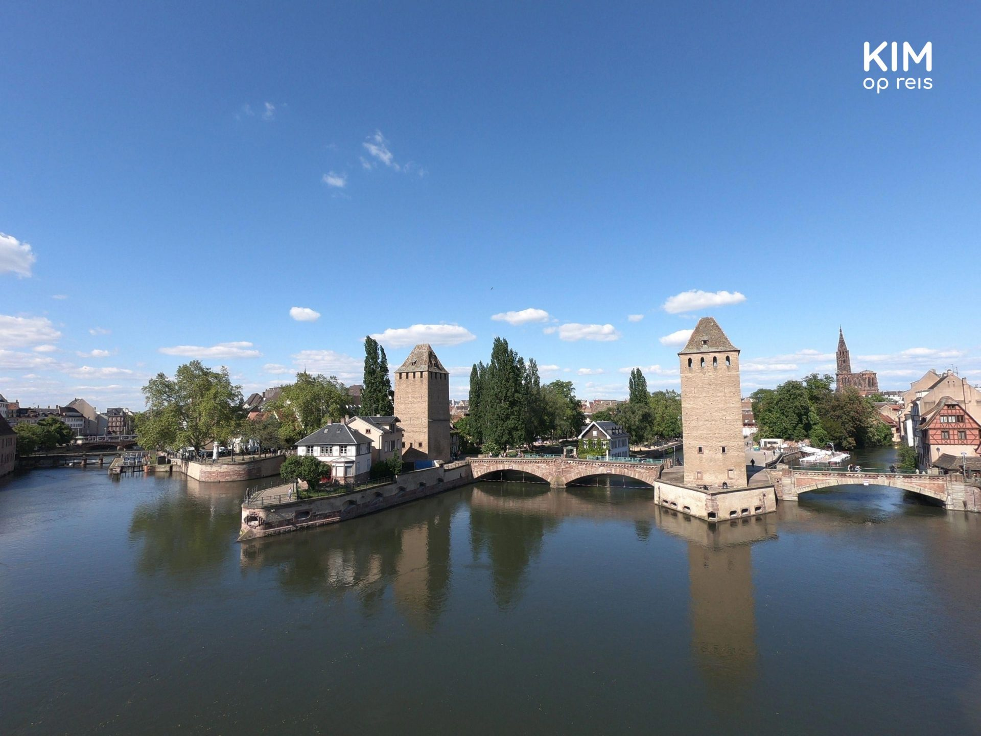 View on Ponts Couverts and La Petite France