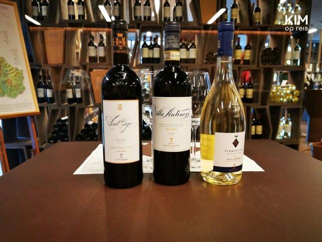 Wijnproeverij bij wijnhuis Antinori