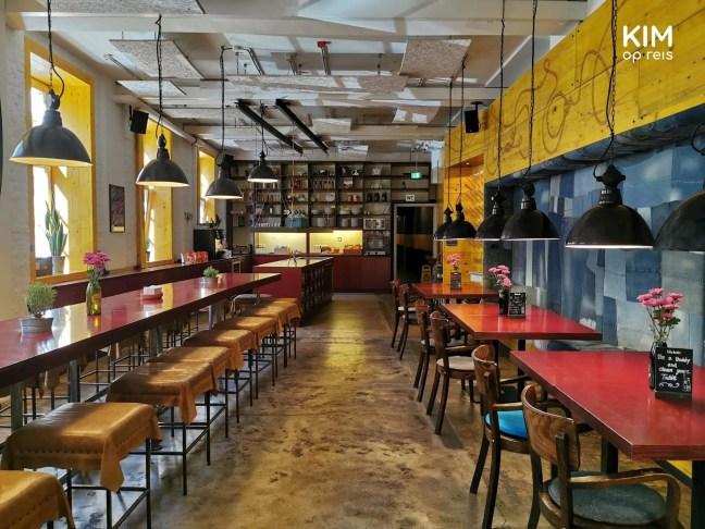 Ontbijtzaal en chillplek Superbude Hamburg