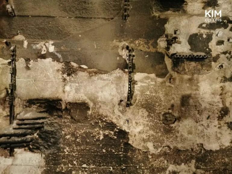 Detail bunker muur Tempelhof