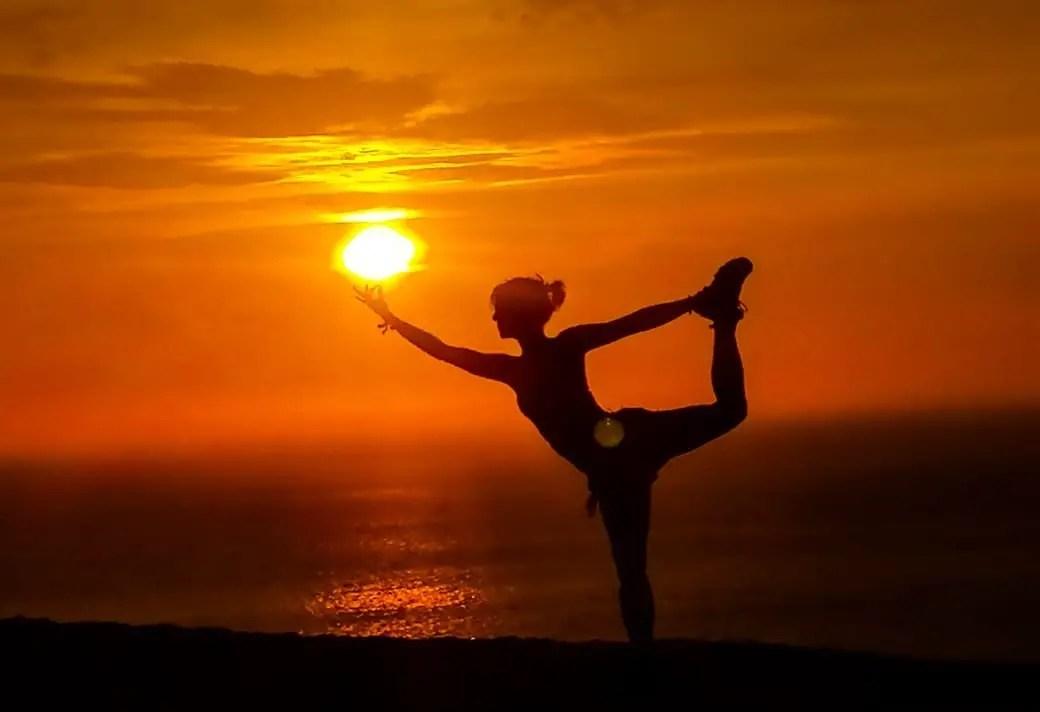 Paracas zonsondergang yoga