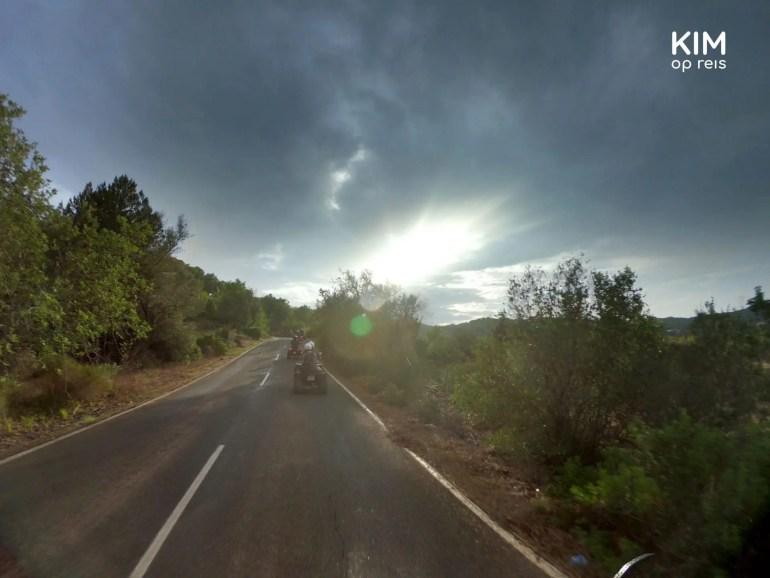 Regenachtige quad tour op Ibiza.