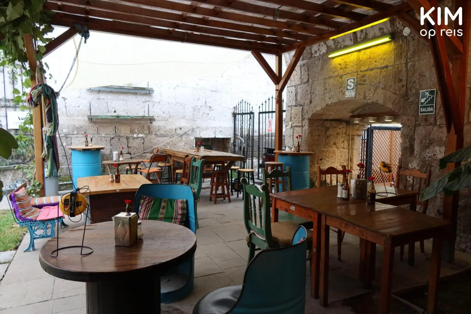 Kaffeehaus Arequipa buiten