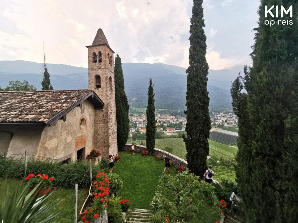 Church Valle dei Laghi - stone church in the mountains of the valley