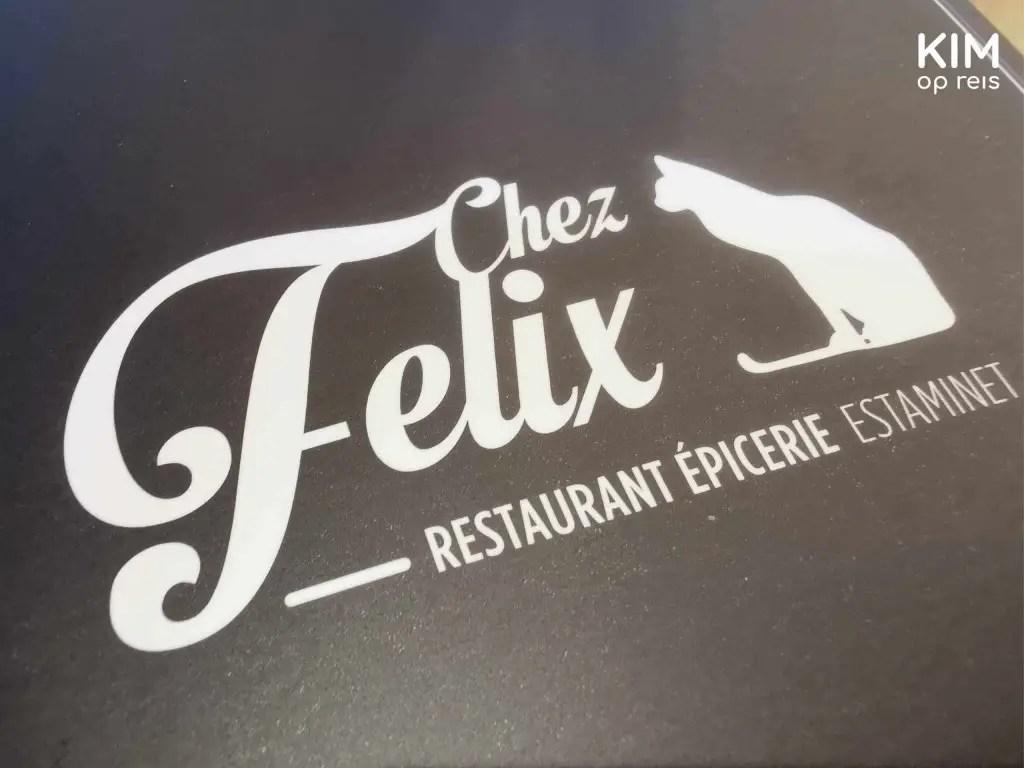 Chez Felix Troyes: menukaart van Chez Felix
