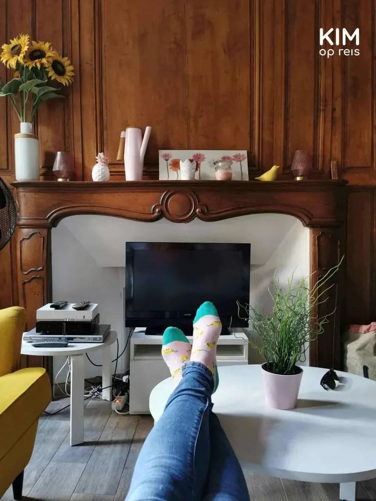 Verblijf Troyes: chillmoment in het appartement