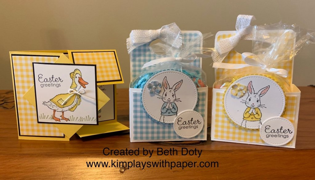 Stampin' Up!'s Fable Friends Easter Trio with Gingham Gale Designer Sereis Paper