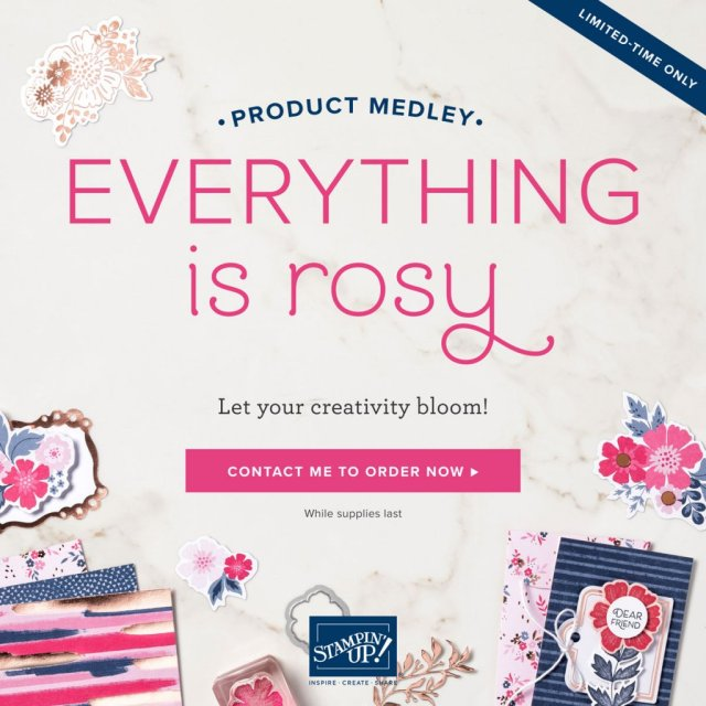 Stampin' Up! Everything is Rosy Medley