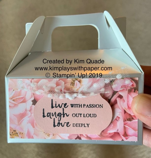 Stampin' Up! Mini Gable Boxes, Petal Promenade Designer Series Paper, Timeless Label Punch, Beautiful You
