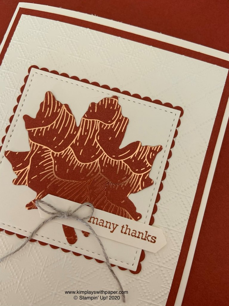 Fall Thank-You Card Tutorial