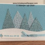 Tree Angle Winter Card Sample