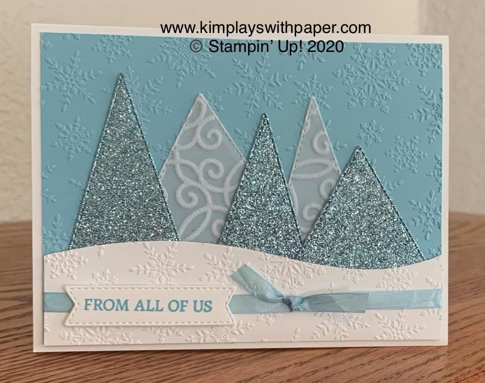 Tree Angle Winter Card Sample
