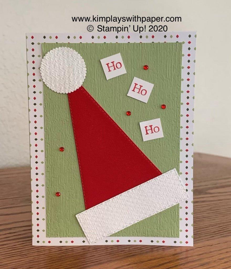 Stitched Triangles Santa Hat