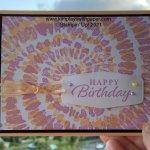 Spiral Dye Birthday Card