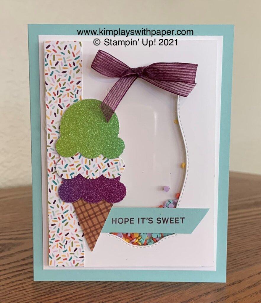 Sweet Ice Cream Shaker Card