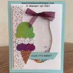 Sweet Ice Cream Shaker Card with Glimmer
