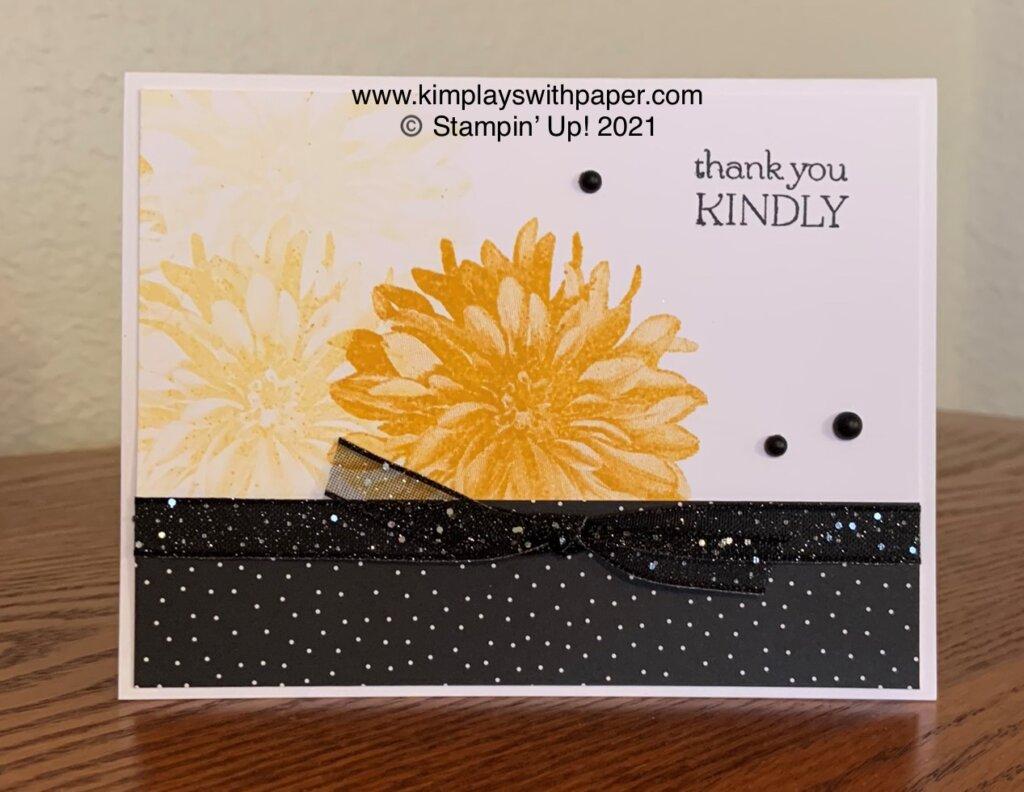 Delicate Dahlias Card Samples