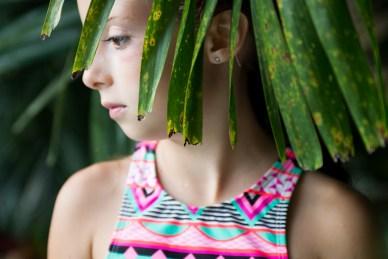 girl, island, palm